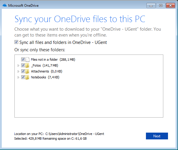 one drive log in